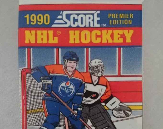 Brand new sealed 1990 Premier Edition of Score NHL hockey cards 1 pack new never opened 15 cards in pack
