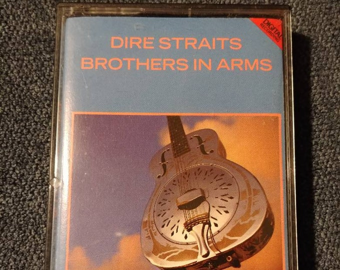Dire Straits Brothers In Arms 1985 cassette tape Vertigo Records Polygram Inc. Canadian version tape PAPER LABELS on cassette