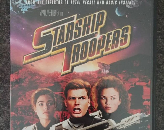 Starship Troopers DVD 1997 space bugs aliens shoot em up Sci-Fi movie Paul Verhoeven film