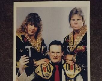Smokey Mountain Wrestling SMW tag team Champions Heavenly Bodies with Jim Cornette promo style art print 4x6 photo WWE WWF