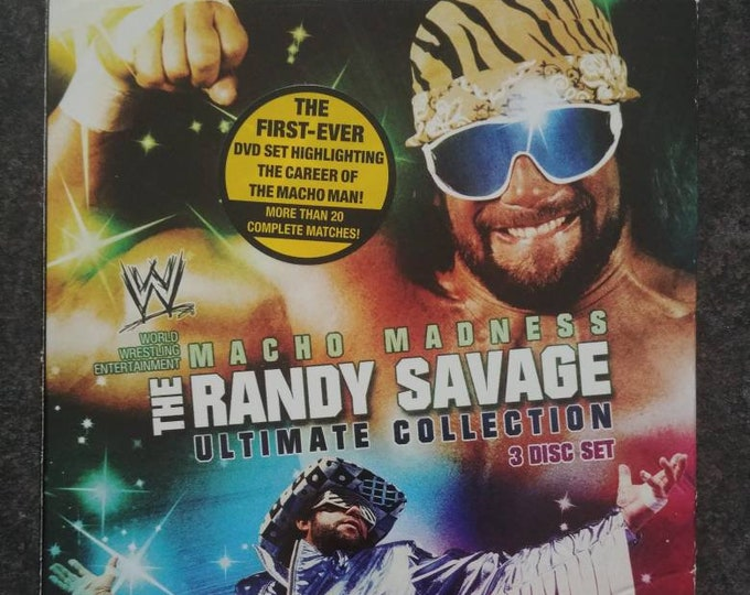 WWE Macho Madness The Randy Savage Ultimate Collection 3 disc DVD set WWE Home Video