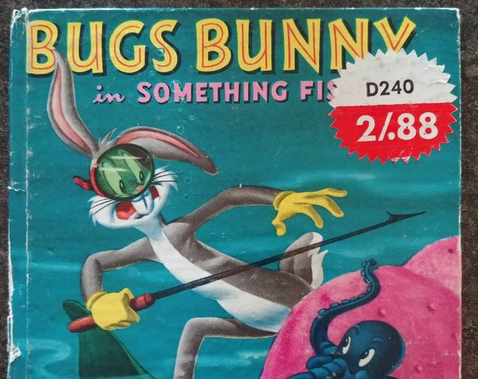 Vintage Bugs Bunny in Something Fishy Whitman Tell A Tale Book Western Publishing 1955 kids book