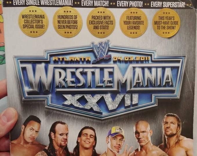 Hard to find WWE Magazine Wrestlemania XXVII Atlanta wrestling WWF used old back issue magazine