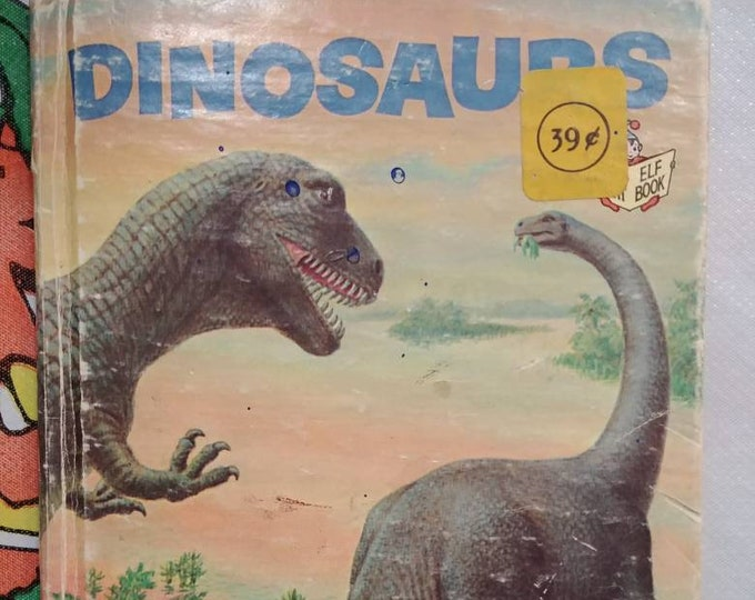 Dinosaurs Start-Right Elf book 1971 Rand McNally Publishers Educational book hardcover