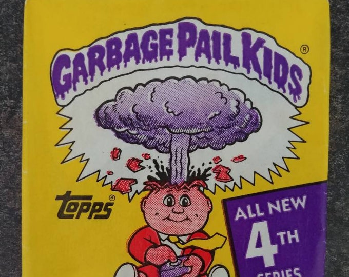 Topps 1986 Series 4 Garbage Pail Kids wrapper package wax pack ONLY no cards! gross shock 80's