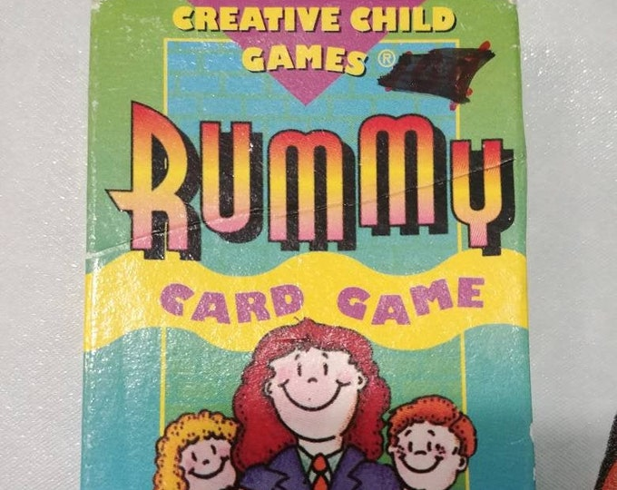 Vintage 1976 Creative Child Games Rummy First Day at School Card Game full set 35 cards retro kids game