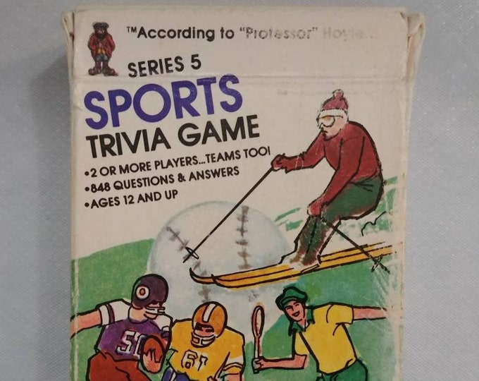 According to Professor Hoyle Sports Trivia Card Game 1984 Series 5 questions and answers about sports kids to adults game