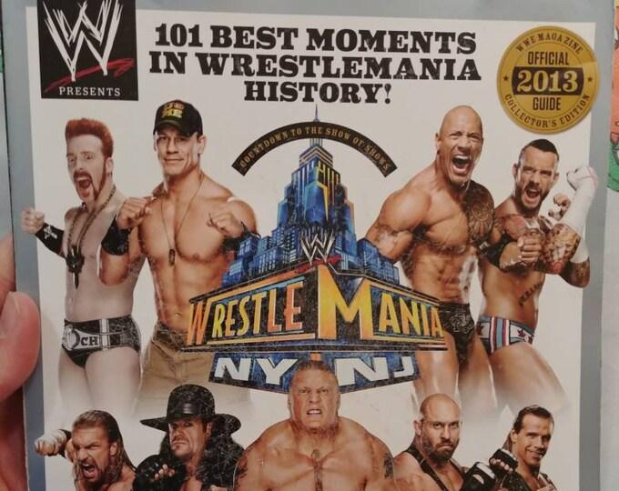 Hard to find WWE Magazine Wrestlemania 29 New York New Jersey wrestling WWF used old back issue magazine