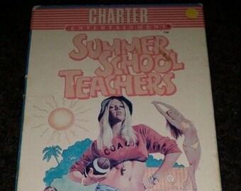 Summer School Teachers VHS tape 1974 Corman Barbara Peeters Charter Entertainment sexy girls