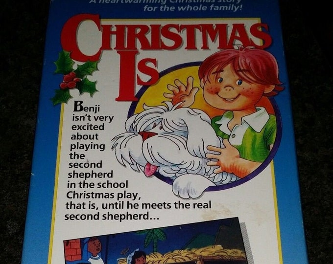Christmas Is VHS kids cartoon TV Family Films Gateway Films 1990's Benji and Waldo cartoon from 1970 Christmas cartoon
