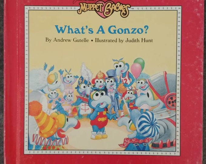 Rare Jim Henson's Muppet Babies What's a Gonzo Weekly Reader Book 1986 hard cover kids book VHTF