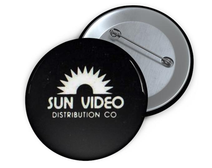 Custom Sun Video defunct VHS company Button handmade pin-back button retro style