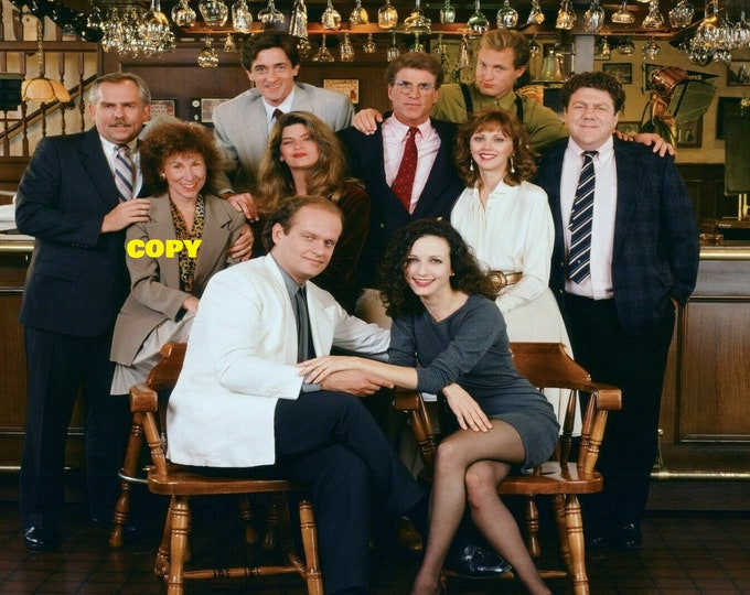Cheers TV show cast publicity comedy classic Norm retro vintage picture photo RP 4x6