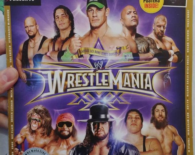 Hard to find WWE Magazine Wrestlemania XXX  30 Years of Wrestlemania wrestling WWF used old back issue magazine