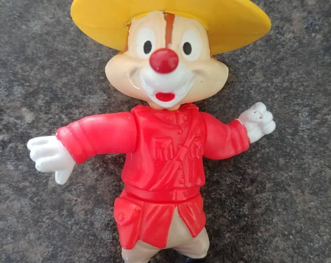 McDonalds Happy Meal toys Mickey and Friends Epcot Walt Disney World Dale in Canada RCMP FIGURE food restaurant 1993