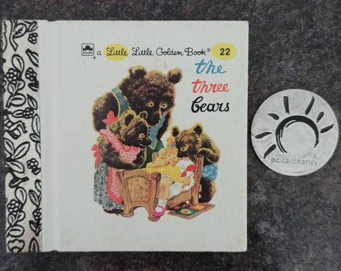 RARE Vintage Little Little Golden Book miniature book number 22 The Three Bears