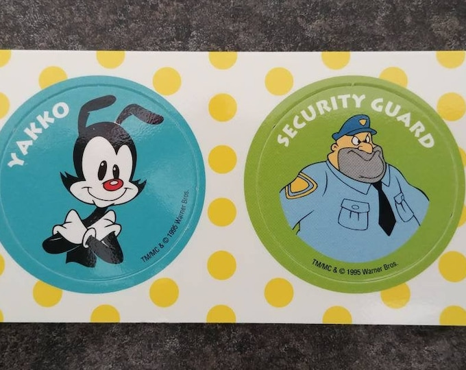 RARE Post Cereal 2 Animaniacs Pog Pogs Milk Caps 1995 promo kids cereal Kraft Canada