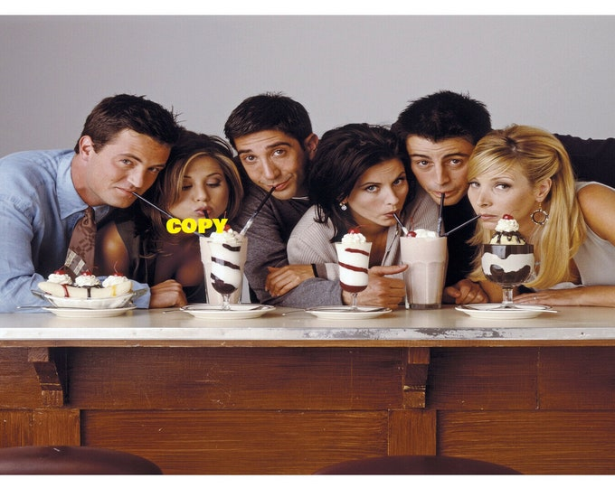 Friends TV show cast comedy publicity classic retro show Jennifer Aniston picture photo RP 4x6