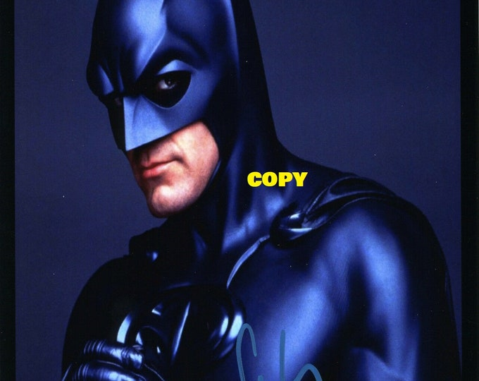 Batman George Clooney actor movies signed reprint photo poster autograph RP