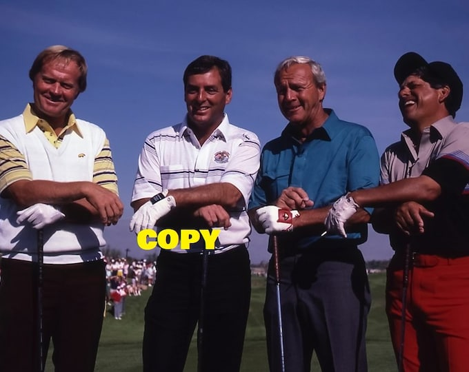 Pro golfing greats Jack Nicklaus, Fuzzy Zoeller, Arnold Palmer & Lee Trevino PGA Tour golfers photo picture RP 4x6