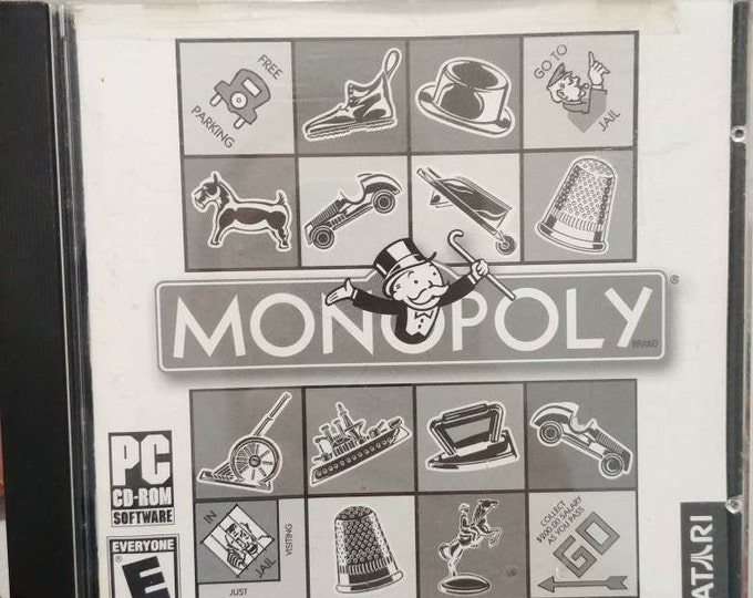 Monopoly PC video game CD-ROM software Atari board game Hasbro computer game 2000's