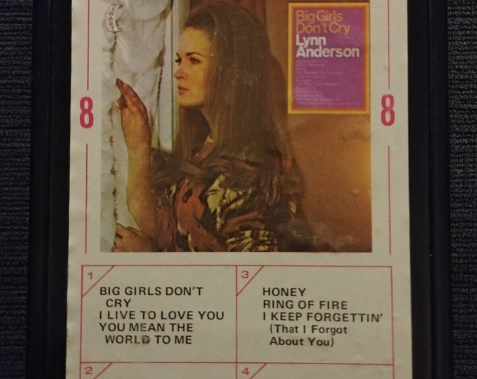 Lynn Anderson Big Girls Don't Cry 8 Track tape Ampex Chart USA Country 1969 Cartridge music system retro vintage