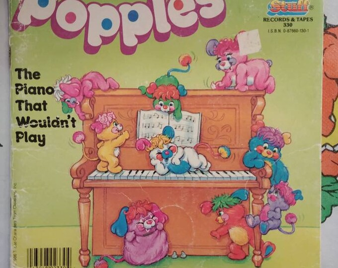 Popples The Piano That Wouldn't Play Kids Stuff Records book version kids book cartoon 1986 Those Characters From Cleveland Inc.