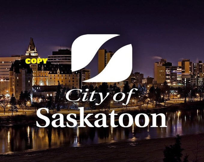 Custom made City of Saskatoon Saskatchewan Canada landscape Delta Bessborough Hotel picture color photo RP 4x6