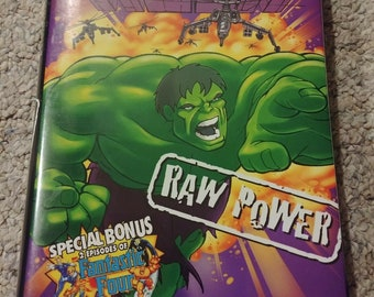 VERY RARE The Incredible Hulk Raw Power VHS tape Marvel Films Telegenic 1997