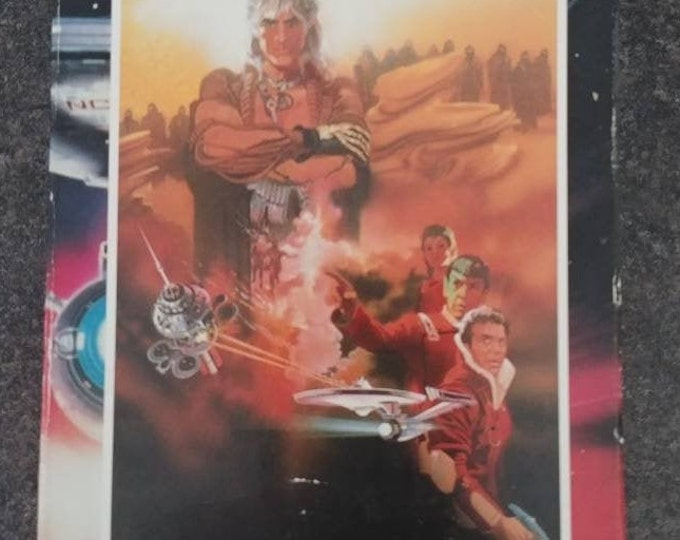 Star Trek 2 The Wrath of Khan VHS tape 1991 version movie William Shatner Paramount Pictures sci-fi action Leonard Nimoy