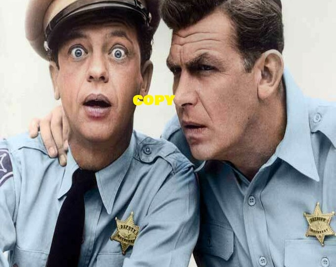 The Andy Griffith Show Barney Don Knotts cast TV show retro vintage comedy 1960's picture photo RP 4x6