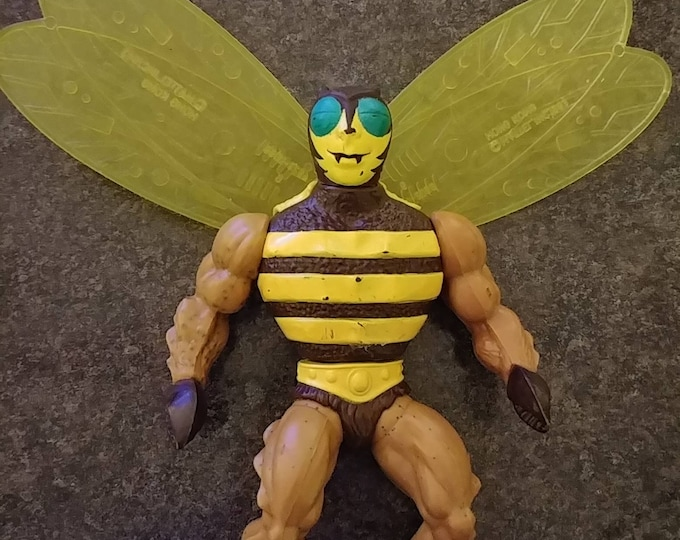 He-Man MOTU Buzz Off figure 1983 with wings Masters of the Universe Mattel