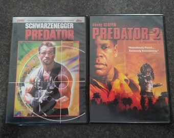 Predator and Predator 2 DVD's set of 2 Schwarzenegger Danny Glover Slim DVD Cases