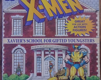 Marvel Comics X-Men Xavier's School For Gifted Youngsters board flip flap kids book first run release book Random House 1994