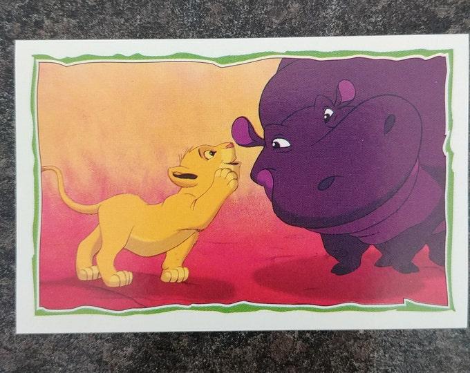 Panini The Lion King 1995 sticker album sticker book #76 sticker Disney movie
