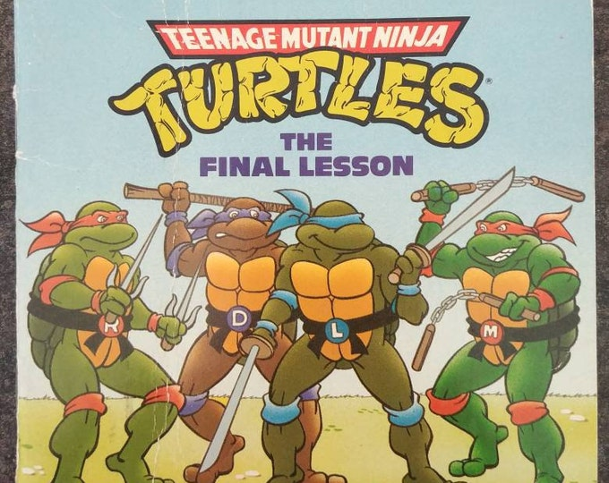 Teenage Mutant Ninja Turtles The Final Lesson mini kids book first run release book Random House New York 1990