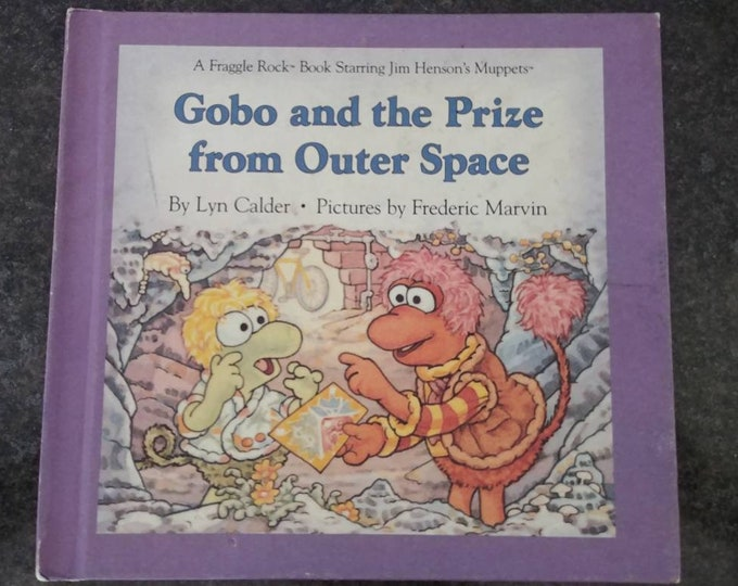Fraggle Rock Gobo and the Prize from Outer Space Weekly Reader Book 1986 hard cover kids book VHTF