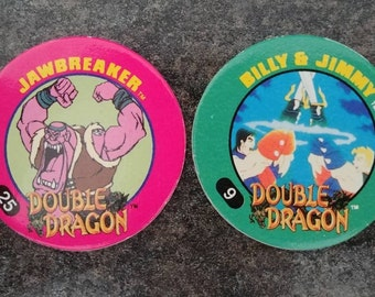 HTF 2 Double Dragon Imperial Slammer Whammers Pog Pogs Milk Caps 1995 Jawbreaker Billy and Jimmy video game