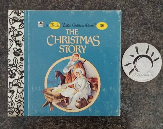RARE Vintage Little Little Golden Book miniature book number 36 The Christmas Story
