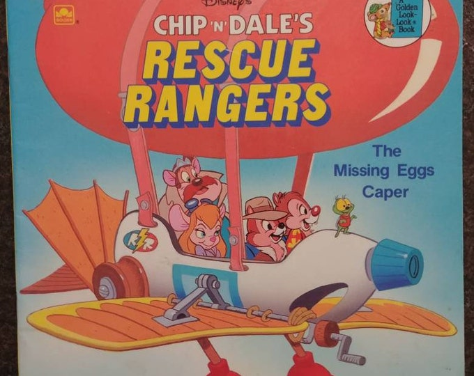 Disney's Chip N Dale Rescue Rangers The Missing Eggs Caper A Golden Look Look Book 1989 Western Publishing Company kids book