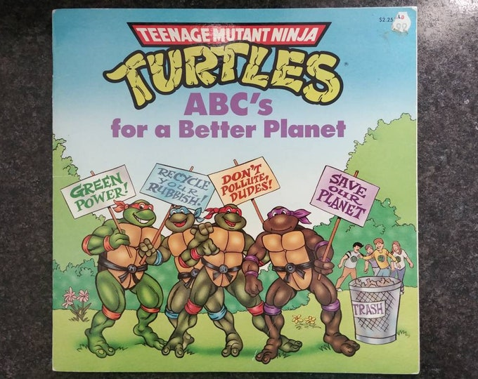 Teenage Mutant Ninja Turtles ABC's for a Better Planet 1991 Random House Books kids book cartoon soft cover