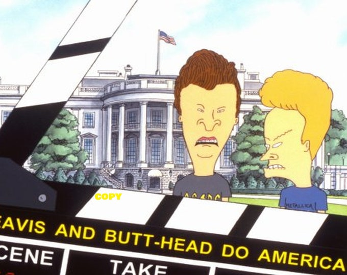 Vintage Beavis and Butt-Head Do America movie still Publicity photo Comedy Animated RP 4x6 you pick photo
