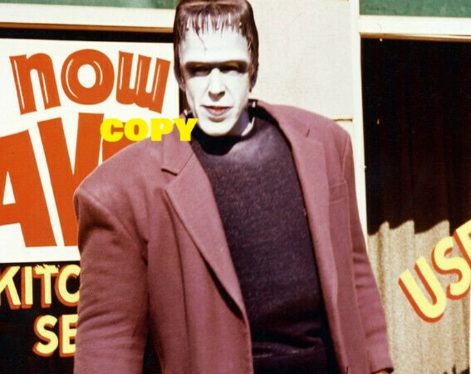 Fred Gwynne as Herman Munster from The Munsters TV show 1960's actor retro gothic vintage picture photo RP 4x6