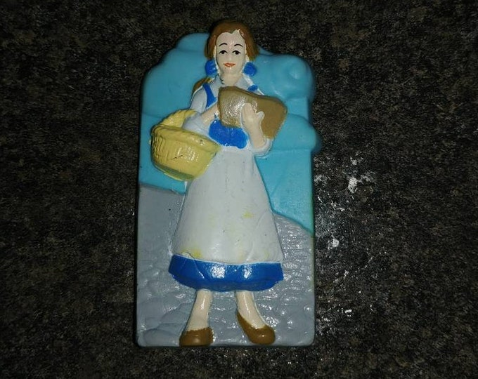 Disney's Beauty and the Beast Belle rubber eraser PVC figure retro vintage 1990's