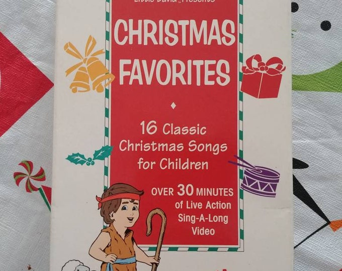 RARE Cedarmont Kids Christmas Favorites VHS tape Sing-a-long 1998 Little David Presents Benson Label Group