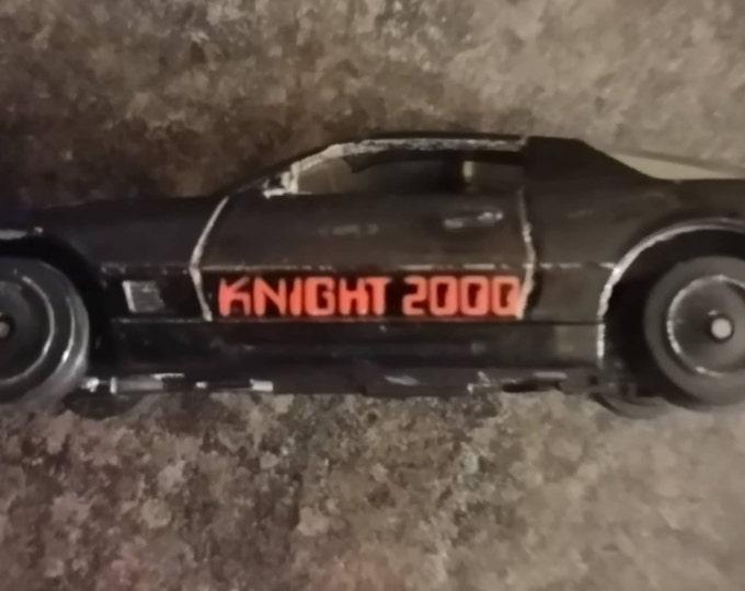 Vintage rare Ertl 1982 Knight Rider toy die-cast car KITT Knight 2000 David Hasselhoff