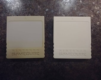 Nintendo Gamecube official genuine memory cards DOL 008 59 blocks and DOL 020 1019 blocks video game console