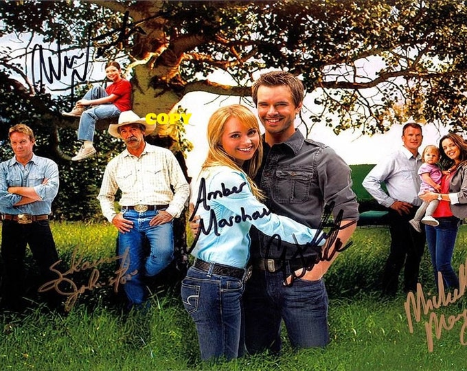 Heartland TV show CBC Canadian Country show cast signed reprint photo poster autograph RP