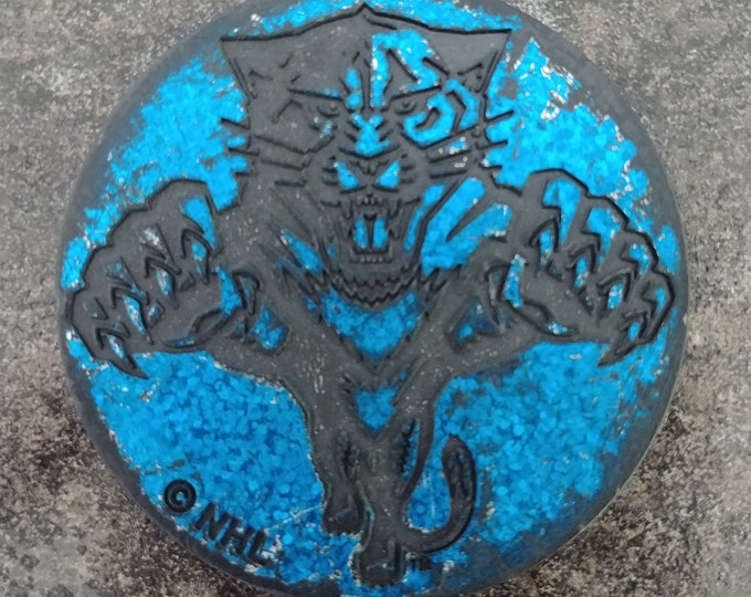 RARE hard plastic Florida Panthers NHL Milk Caps Slammer Pog POGS 1990's blue in color