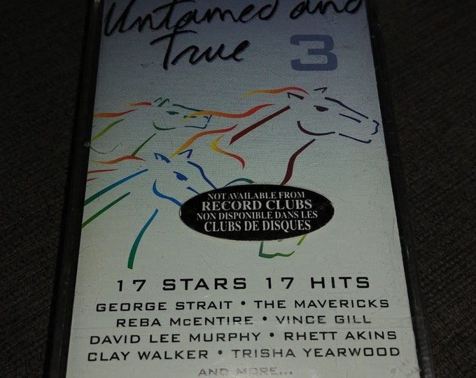 BRAND NEW Country's Best Untamed and True 3 cassette tape 1996 MCA Canada Reba McEntire George Strait Vince Gill Travis Tritt